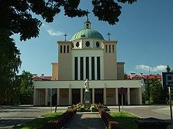 Starogard Gdański, Pomorska, kostel sv. Wojciecha.JPG