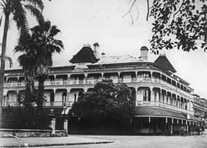 George Street, Brisbane - Bellevue Hotel, 1933