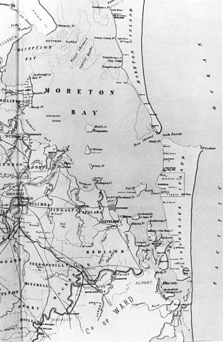 FileStateLibQld 1 120628 Map Of Moreton Bay And
