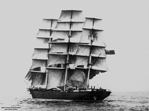Burgoignesc extreme clipper under sail