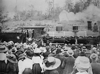 Construction of Queensland railways - Opening of the railway in Yarraman, 1913