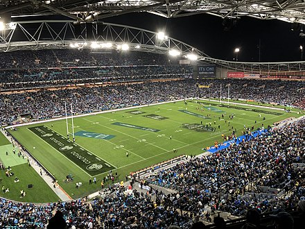 State of Origin Rugby League match at Stadium Australia State of Origin Game II 2018.jpg