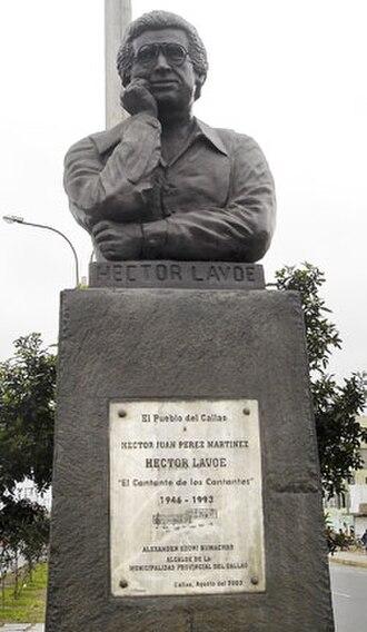 Héctor Lavoe - Statue of Héctor Lavoe in Peru