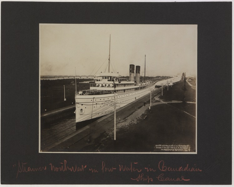 File:Steamer Northwest in Low Water in Canadian Ship Canal Photo 3 (HS85-10-17521) original.tiff
