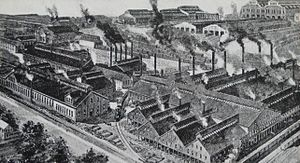 Jackson and Woodin Manufacturing Company - Berwick steel car plant in 1906