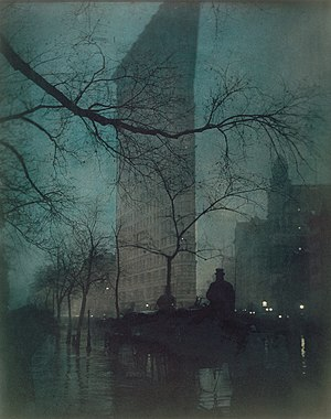 1902 in architecture - Flatiron Building, photographed by Edward Steichen