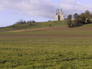 Mont-Saint-Éloi - Towers of the abbey of Mont Saint-Éloi