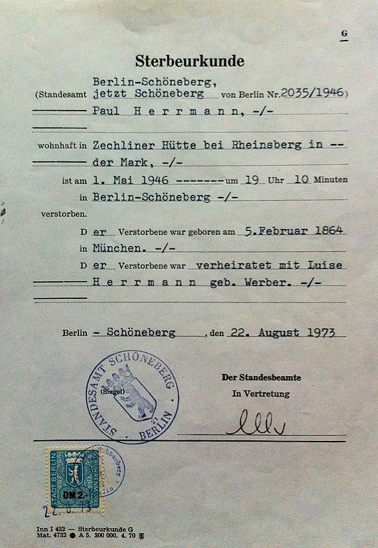 File:Sterbeurkunde paul herrmann.jpg - Wikimedia Commons