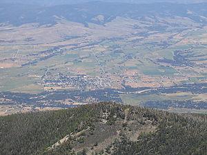 Bitterroot Valley - Bitterroot Valley, from St. Mary's Peak in the Bitterroot Range.