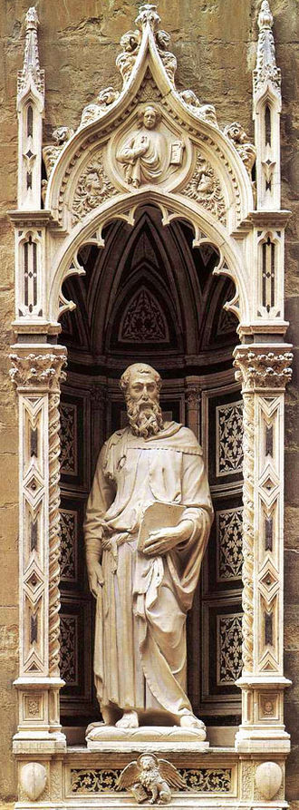 Mark the Evangelist - Saint Mark, 1411-1413, by Donatello (Orsanmichele, Florence).