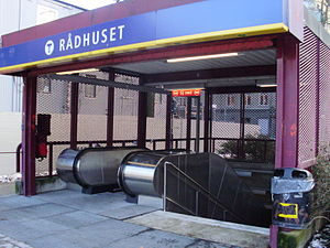 Stockholm Metro station at Rådhuset-1.jpg