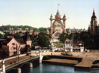 Djurgården - Photochrom print of the 1897 exhibition, digitally restored.