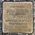 Stolperstein Bartningallee 7 (Hansa) Rosa Ziegler.jpg