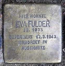 Photo of Eva Sophie Fulder brass plaque