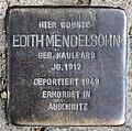 Stolperstein Heinrich-Roller-Str 17 (Prenz) Edith Mendelsohn.jpg