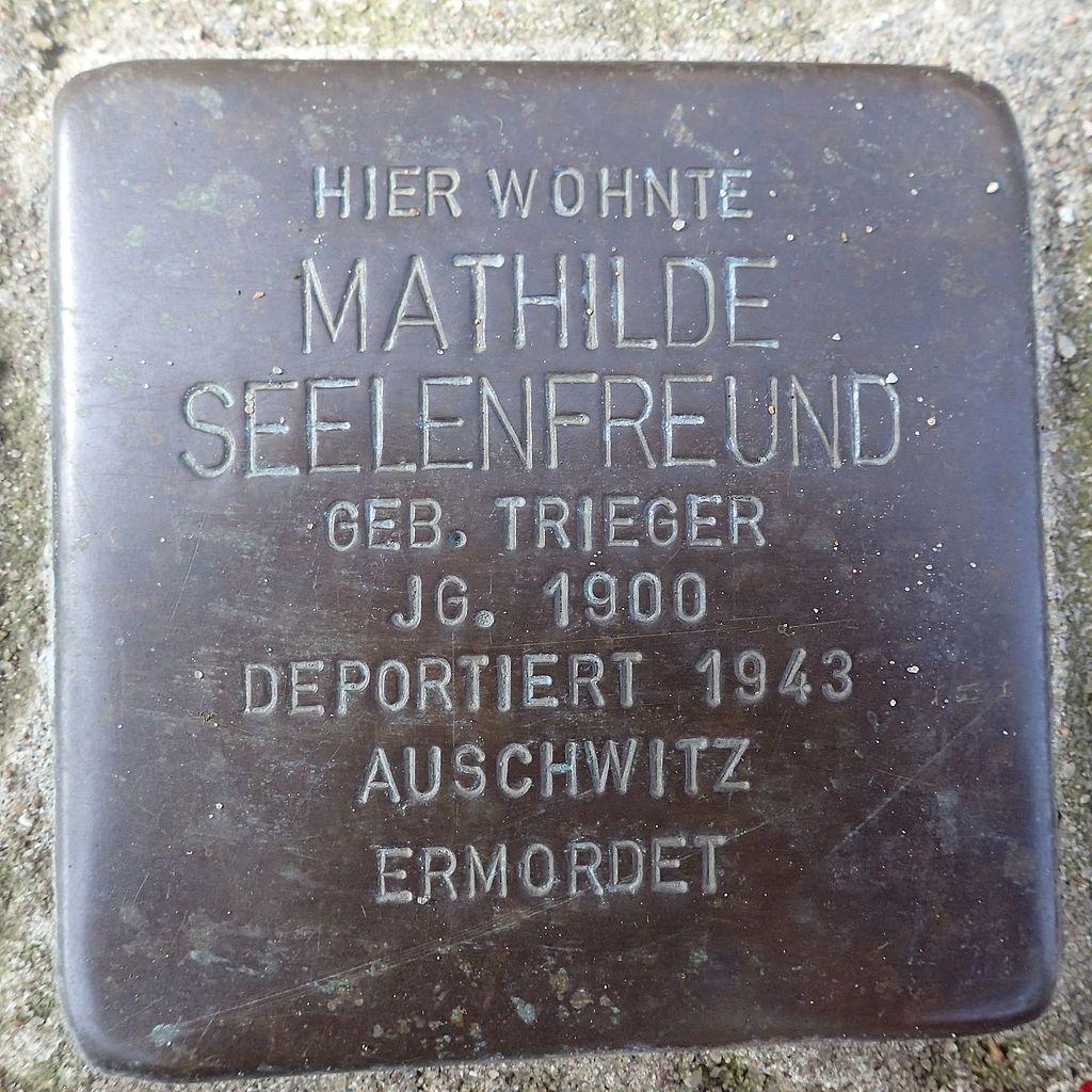 Stolperstein Rendsburg Provianthausstraße 5 Mathilde Seelenfreund.jpg