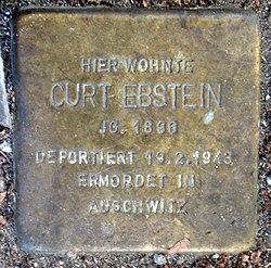 Photo of Curt Ebstein brass plaque