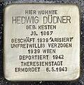 Stolperstein für Hedwig Düdner, Griesgasse.jpg