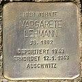 Stolperstein für Margarete Lehmann (Potsdam).jpg