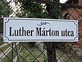 Street sign, Luther Márton Street, 2020 Göd.jpg