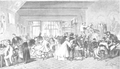 Student café Le Trou in Brussels by Leo von Elliot (engraving from Illustrierte Zeitung, 17 January 1863).png