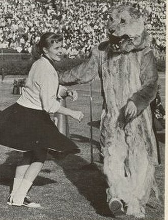 Cheerleading uniform - A cheerleader in 1956