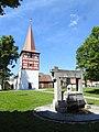 Sugenheim, NEA - Krassolzheim - Kirche v O, Brunnen.jpg