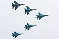 Sukhoi Su-34 & 4x Su-27 at the MAKS-2013 (01).jpg