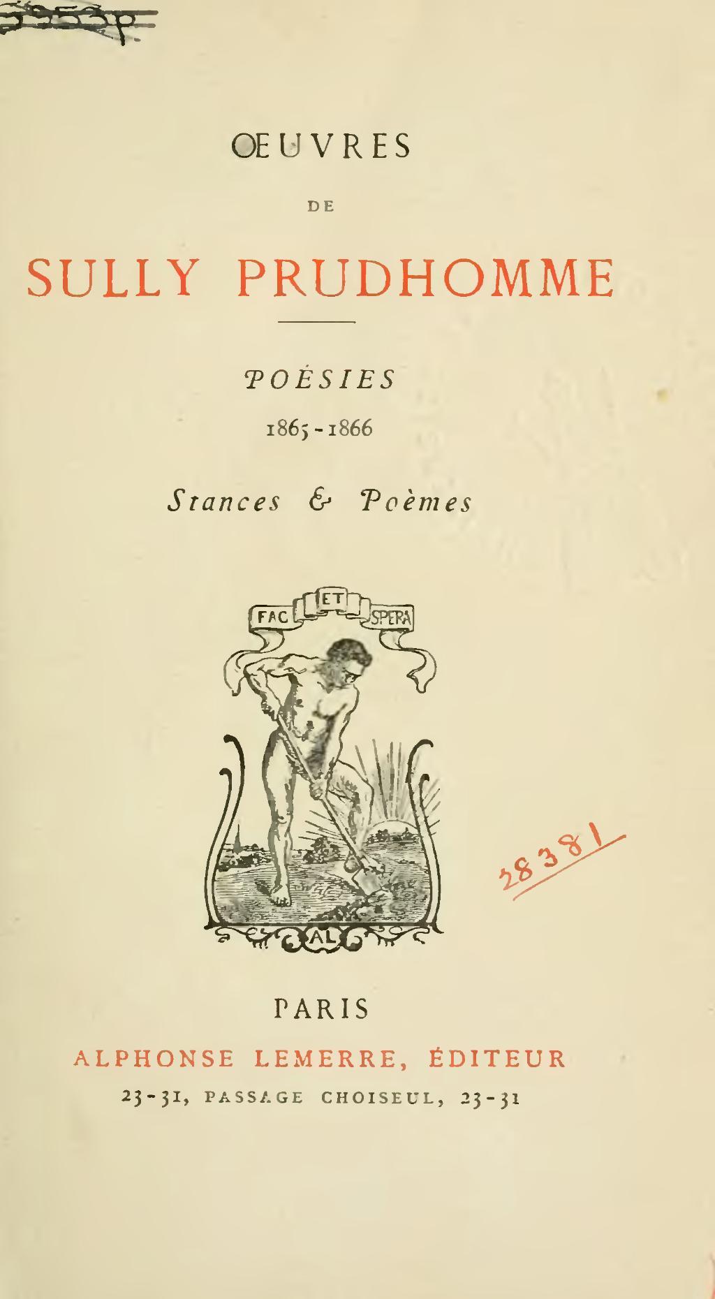 Pagesully Prudhomme œuvres Poésies 1865 1866djvu15