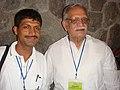 Suman Pokhrel with Gulzar (30415653937).jpg