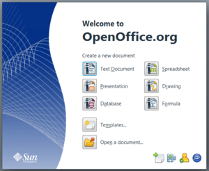 OpenOffice.org - The Sun Start Center for versions between 3.0 and 3.2.0