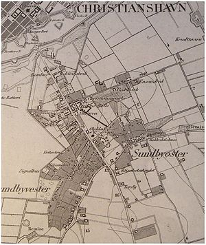 Sundby, Copenhagen - Sundbyvester and Sundbyøster in 1865