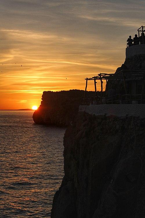 Sunset at Cova d'en Xoroi.jpg