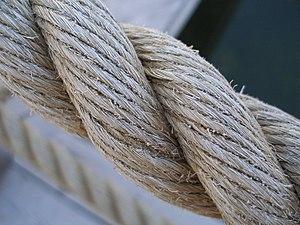 Rope - Three-strand twisted natural fiber rope