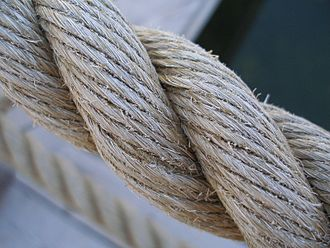 Rope - Three-strand twisted natural fiber rope