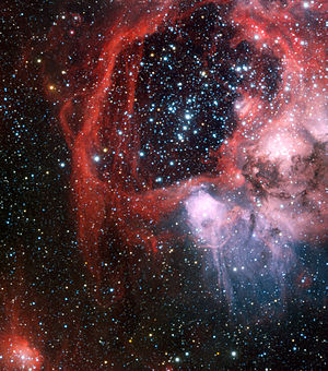 Superbubble - Very Large Telescope image of superbubble LHA 120-N 44 in the Large Magellanic Cloud. Credit: ESO/Manu Mejias.