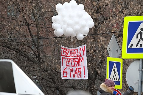 Support of prisoners of the Bolotnaya square case (21 February 2014) (Freedom for heroes).jpg