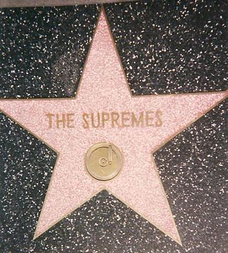 The Supremes - Star on Hollywood Walk of Fame at 7060 Hollywood Blvd.