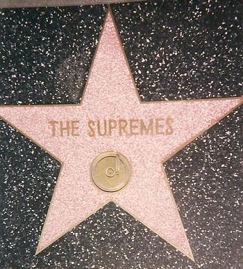 English: The Supremes' star on the Hollywood W...