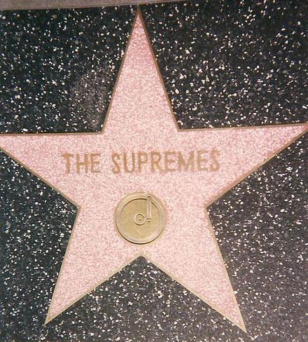 In 1994, the Supremes were recognized with a star on Hollywood Walk of Fame at 7060 Hollywood Blvd. Apart from this star, Ross has one for her individual work. Supremes.Star.Hollywood.Walk.of.Fam.jpg