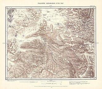 Kawfakha - Image: Survey of Western Palestine 1880.20