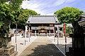 Suwa-jinja shrine haiden, Kutsukake-cho Toyoake 2018.jpg