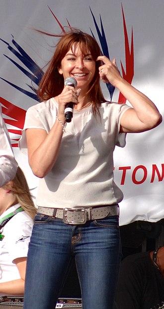 Suzi Perry - Perry presenting at the 2013 British Grand Prix.