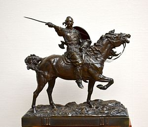 Sviatoslav I of Kiev - Sviatoslav I by Eugene Lanceray (1886)