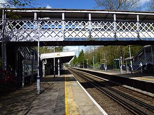 Sydenham Hill railway station - Sydenham Hill platforms looking towards London Victoria