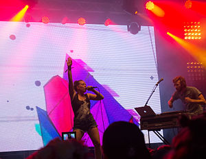 Sylvan Esso - Sylvan Esso performing in Hamburg, Germany, in 2015