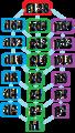 Symmetries of hexacontatetragon.png