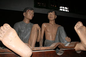 Hỏa Lò Prison - Museum reconstruction of French era prisoners in Hỏa Lò