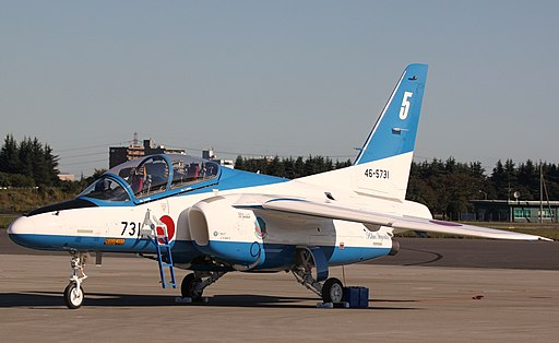 T-4 of the Japanese Blue Impulse aerobatic display team (5251520789)