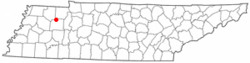Location of McKenzie, Tennessee